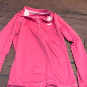 Hollister Pink Quarter Zip👕